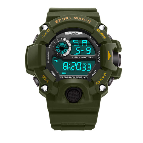 LED Digital Military Sport  Waterproof  Men Wrist watches