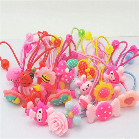 10 pcs Cute candy color Head Ties