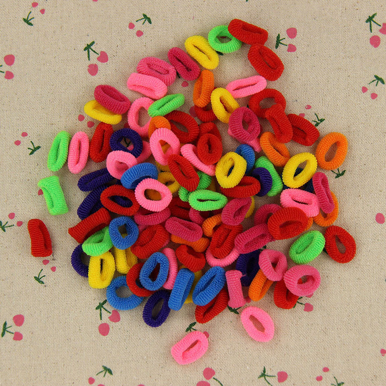 200 Pcs Colorful Elastic Hair Tie