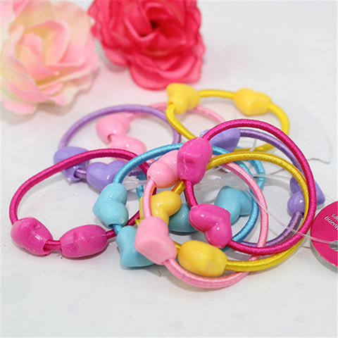 50pcs Cute Children Elastic  Hair Ties