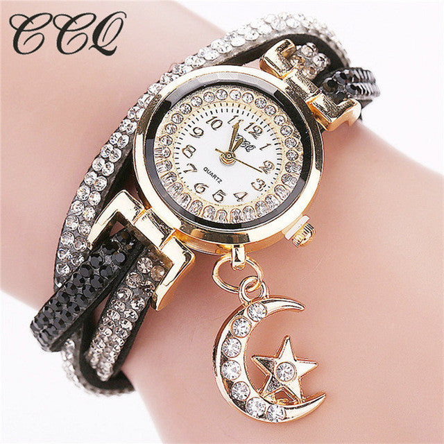 Moon Star Bracelet Watch