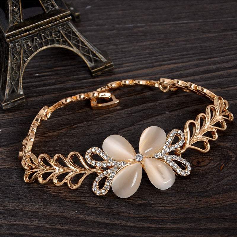 china customized sterling silver jewelry opal supplier stone sale bracelet round for women fashion
