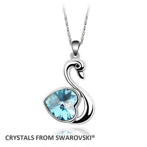 Classic Swan Crystal pendant necklace