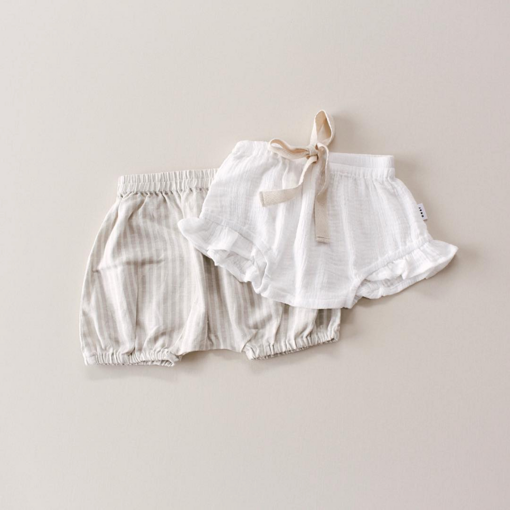 coco bear frill bloomer shorts - white summer shorts