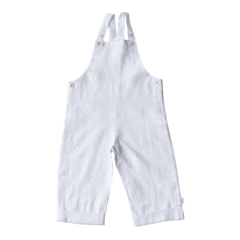 white linen overalls, baby and kids for summer