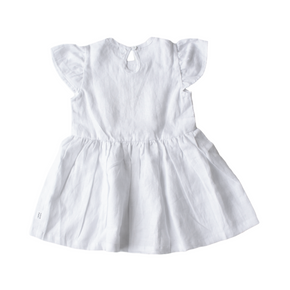 cute white linen, summer dress from coco bear