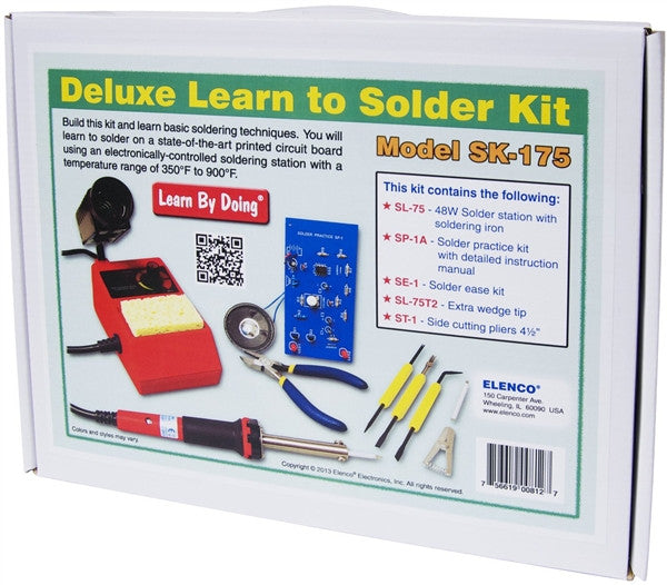 Elenco Deluxe Learn to solder kit (SK-175)