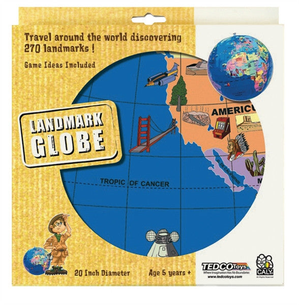 "20"" Inflatable Globe of Landmarks by Tedco Toys"