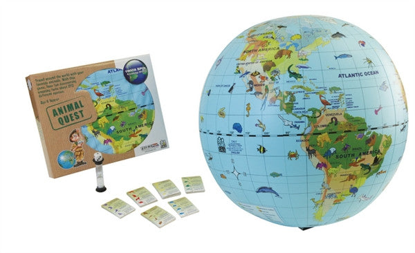 "Animal Quest - 20"" Globe & Game  by Tedco Toys"