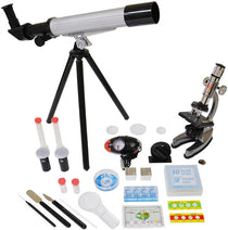Microscope & Telescope w/Survival Kit by Elenco