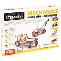 Engino Discovering Stem Mechanics Wheels, Axles & Inclined Planes Building Kit