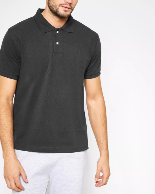 f012e254 KAYLECT - Classic Pique Dark Grey Polo Shirt