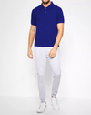KAYLECT - Classic Pique Royal Blue Polo Shirt