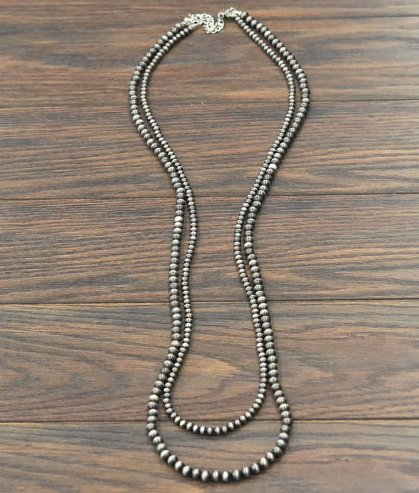 2 Strand Navajo Pearl Vibes Necklace