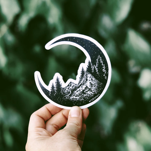 The Mountain Moon Vinyl Sticker