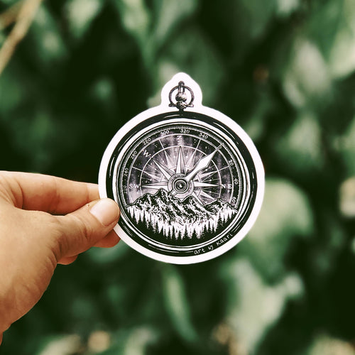 The Mountain Compass Vinyl Sticker