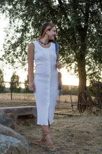 Vintage 1990's White Button Front Dress