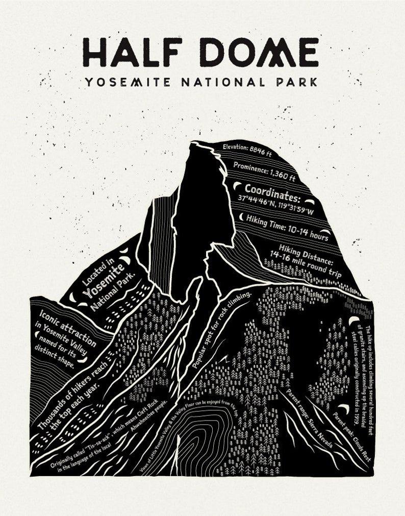 The Half Dome Art Print