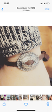 Concho and Deerskin Bracelet