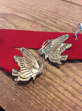 Vintage Red Stetch Belt with Gold Butterfly