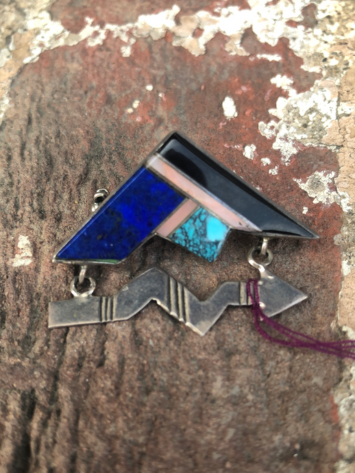Zuni Inlay Broach by J. Charley