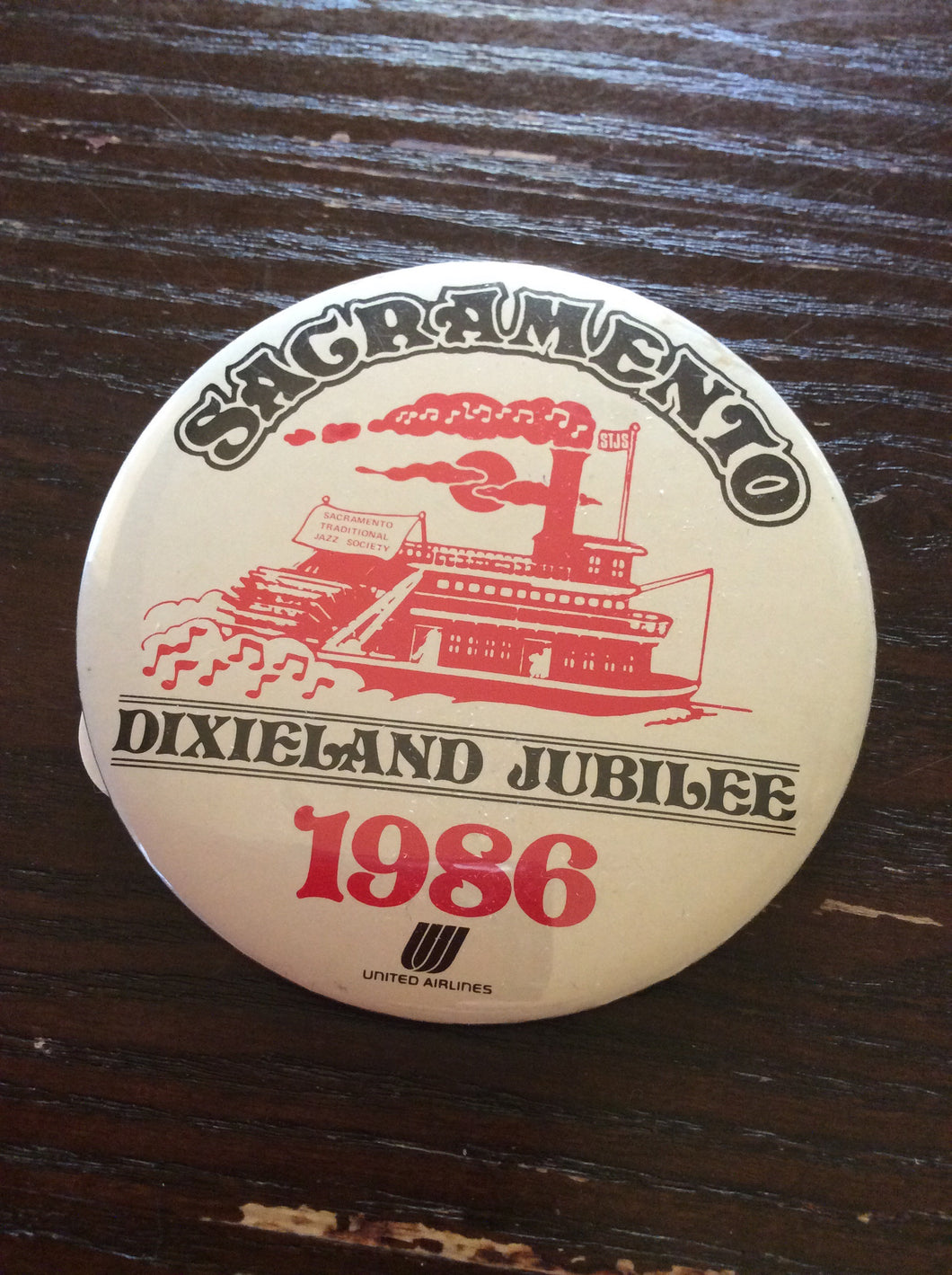 Vintage 1986 Dixieland Jubliee Button