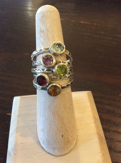 Assorted Stackable Rings by Lone Wolf Designs