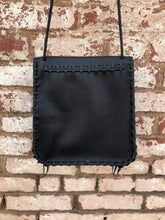 "Black Leather ""Voluptuous Penny"" Bag"