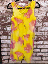 Vintage Yellow & Pink Floral Dress