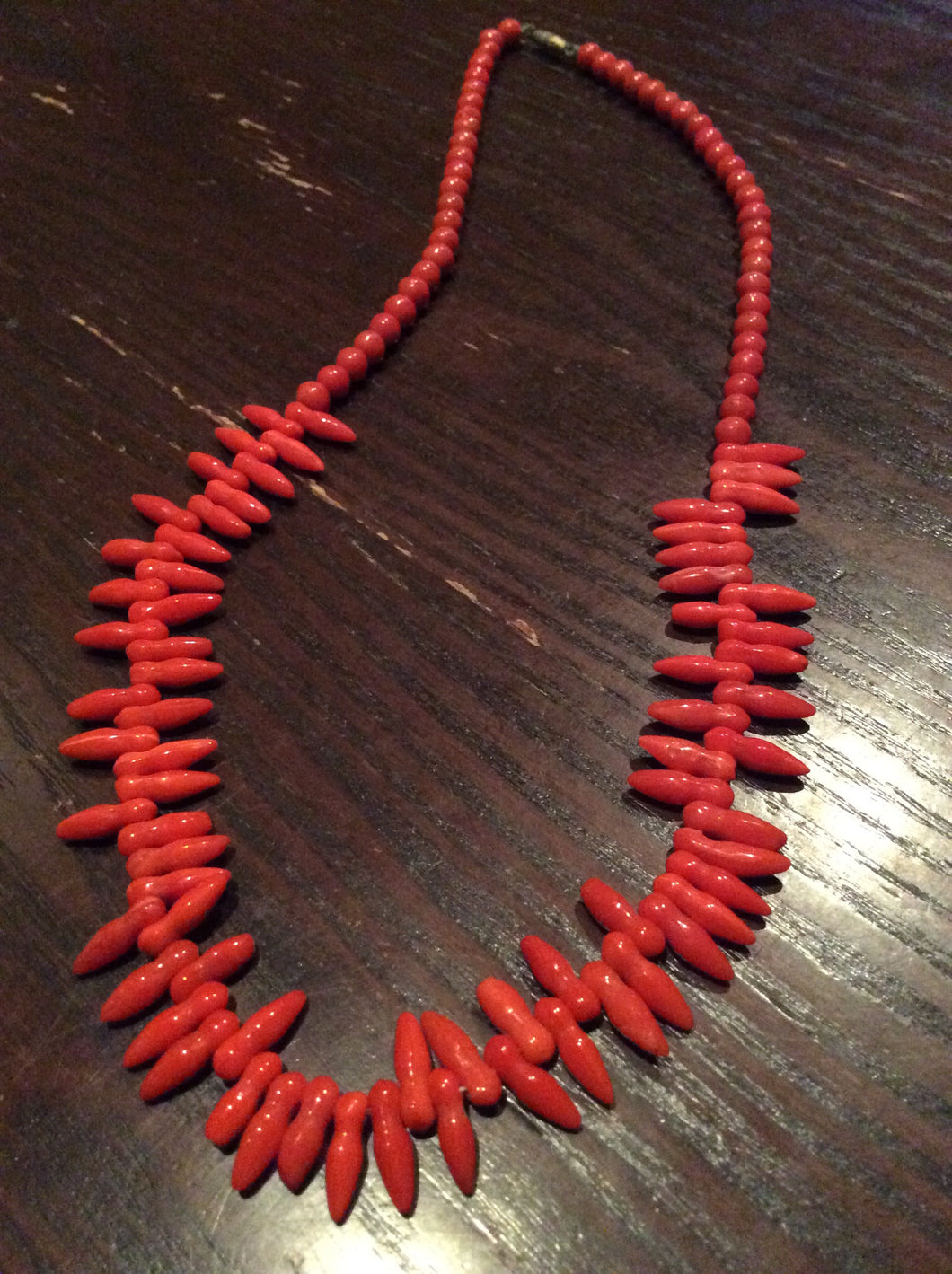 Vintage coral Branch Necklace
