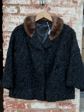 Vintage Persian Lamb Coat with Mink Collar