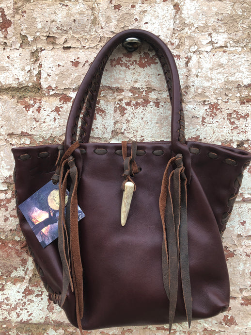 Mahogany Italian Leather Jimmi wZ Mini Tote