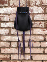 "Black & Purple ""Pippie"" Pouch"
