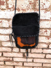 "Black Leather and Cowhide ""Penny"" Bag"