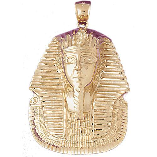 14K GOLD EGYPTIAN CHARM - KING TUT #4790 - LA Charms, 14K GOLD CHARMS Jewelry, Golden-Charms USA LA Charms, LA Charms LA Charms