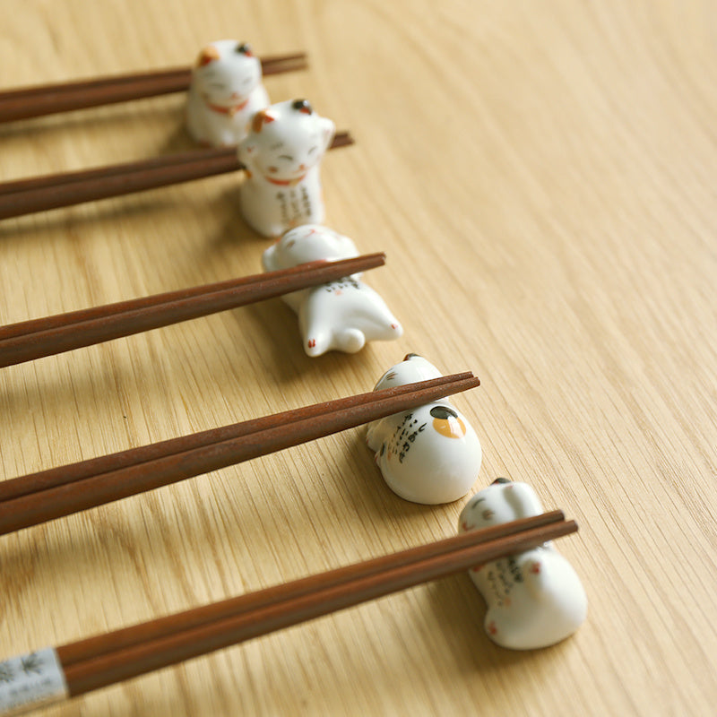 Fortune Cat Chopstick Rests (Set of 5)
