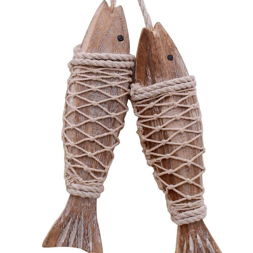 Wood Fish Decor Set