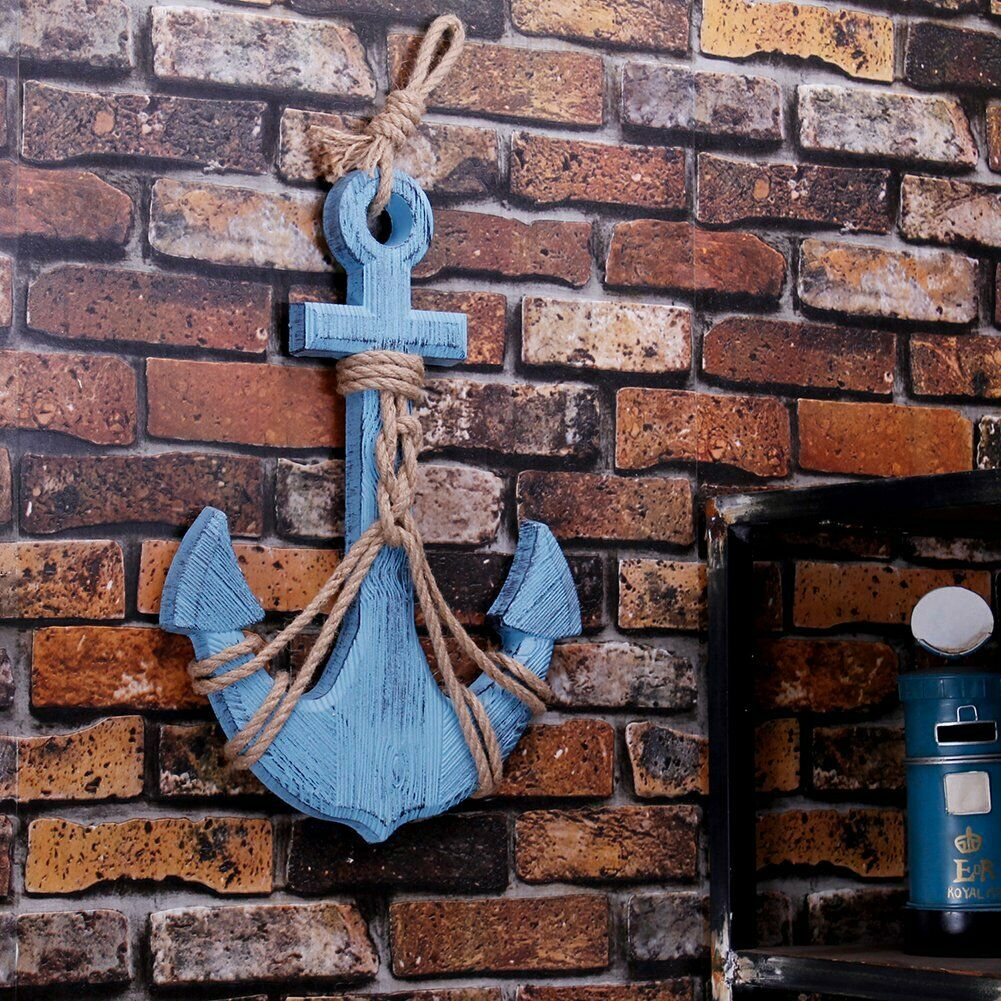 Wooden Nautical Decor Anchor Wall Hanging Ornament