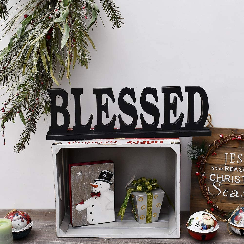 Rustic Wood Sign Blessed