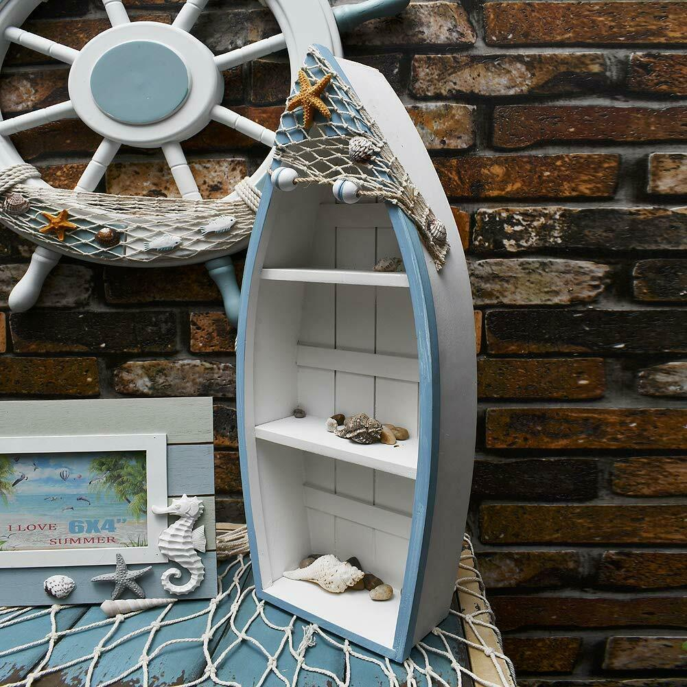 Wooden Boat Shelf Set