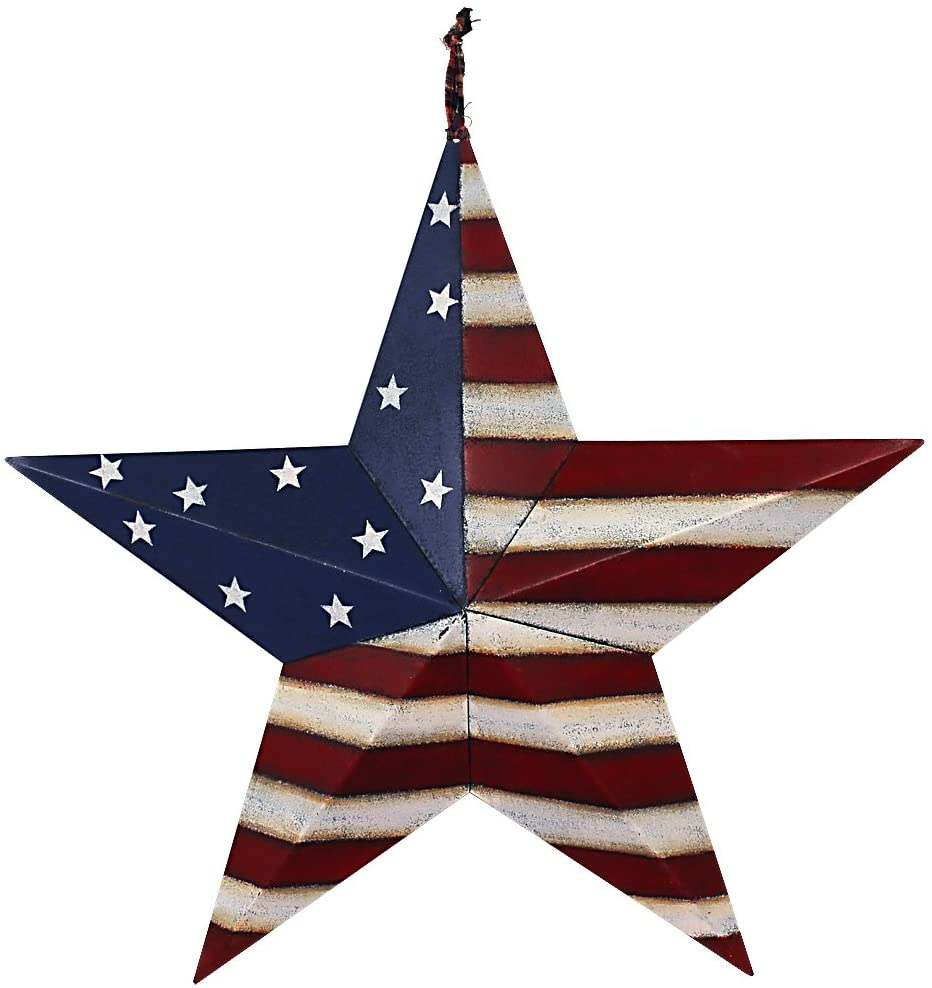 Metal American Barn Star Stripes 21""