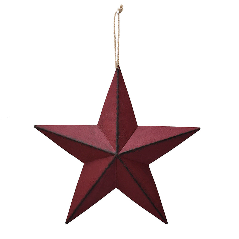 Metal Barn Star Red 12""