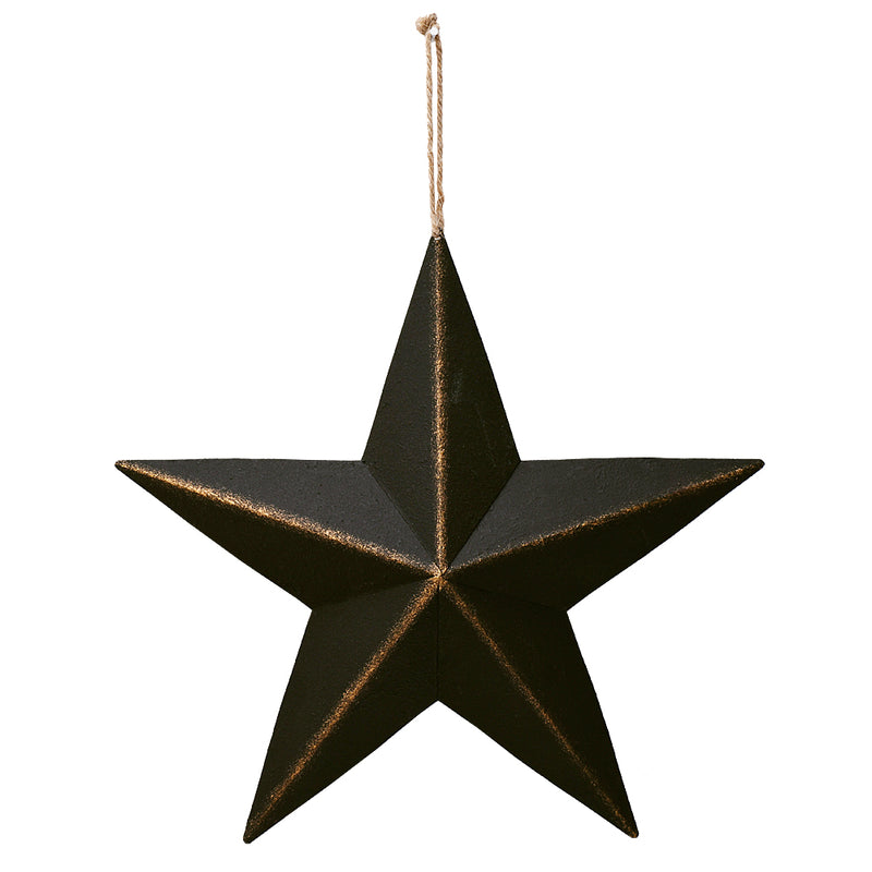 Metal Barn Star Black 12""