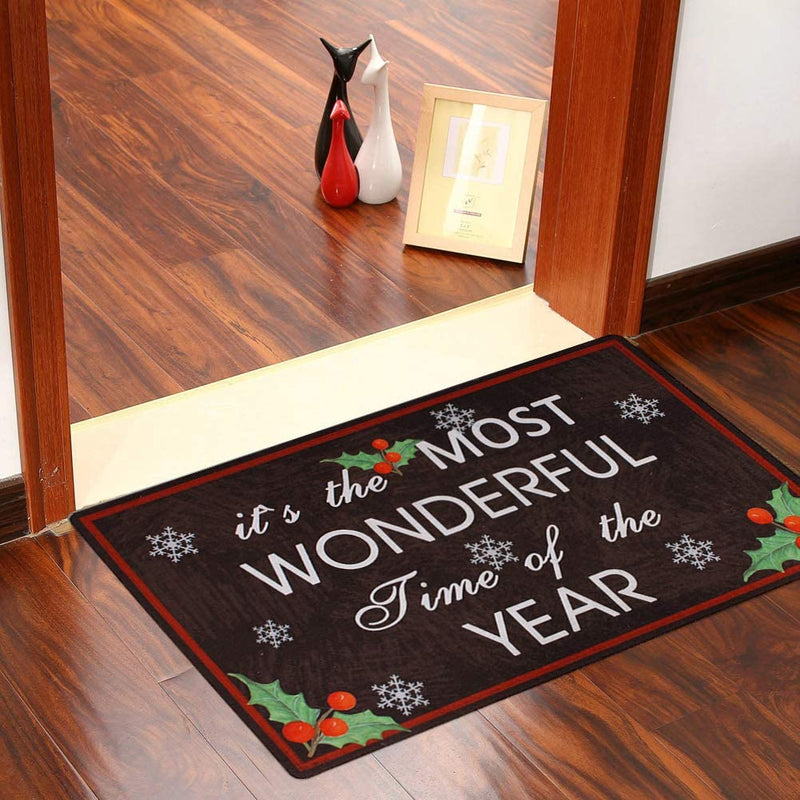 Christmas Doormat Most Wonderful Time