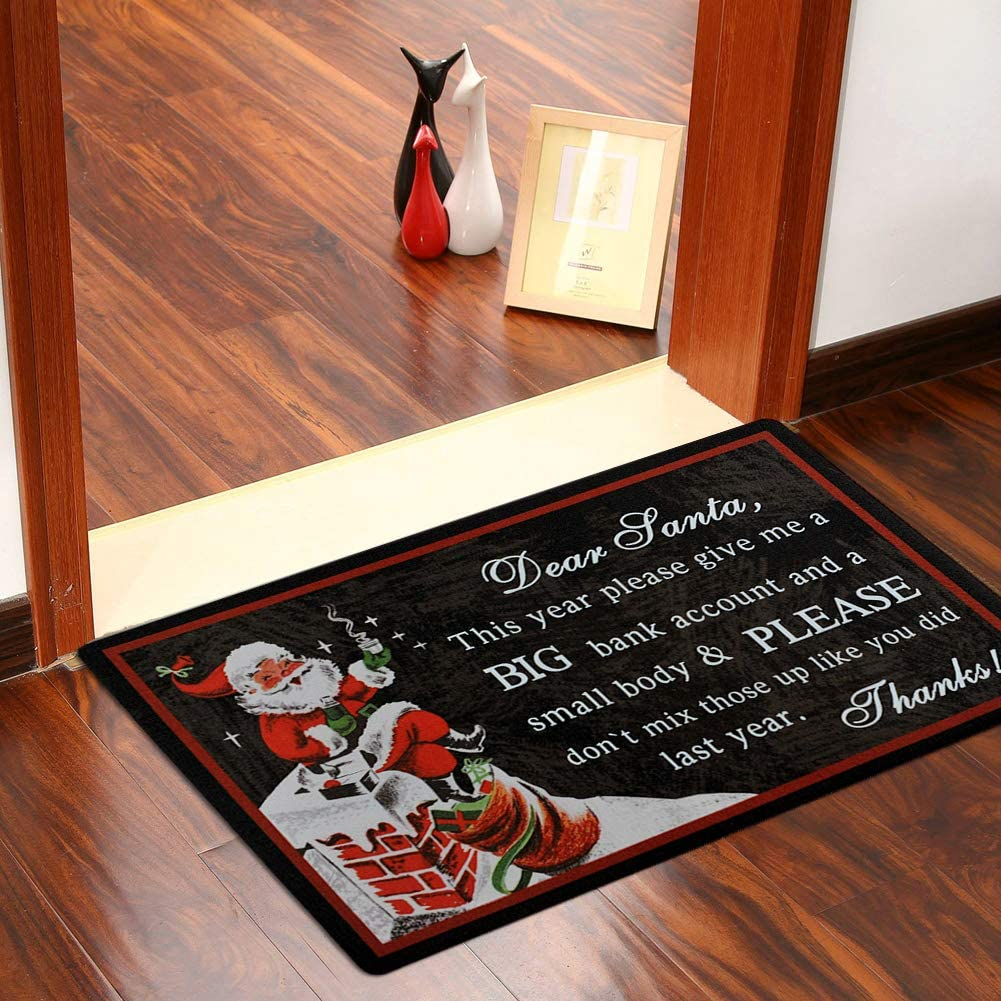 Christmas Doormat Dear Santa