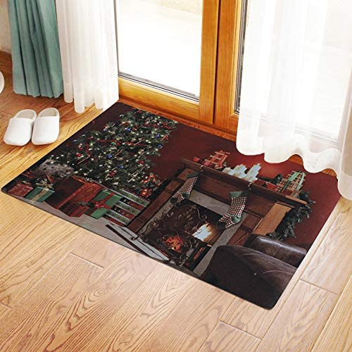 Christmas Doormat Fireplace