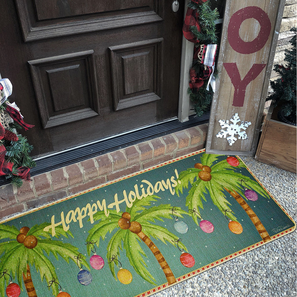 Doormat Christmas Palm Trees