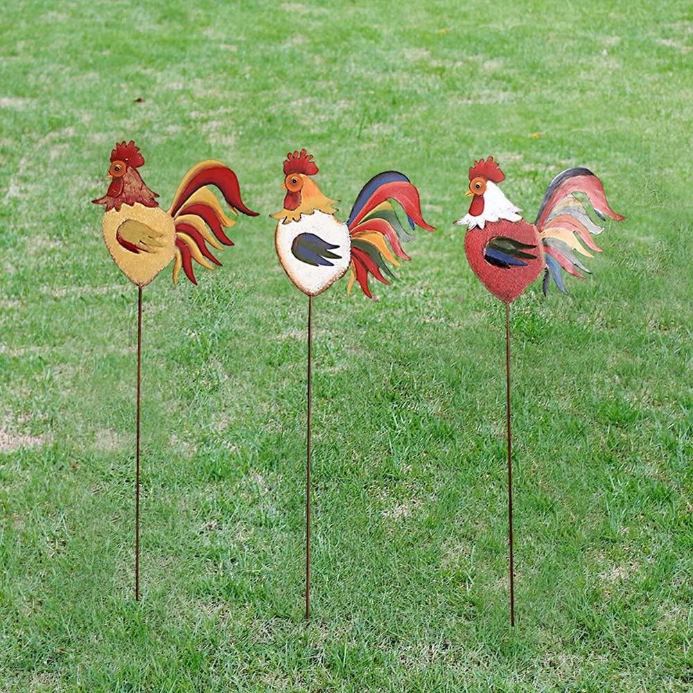 Metal Rooster Family