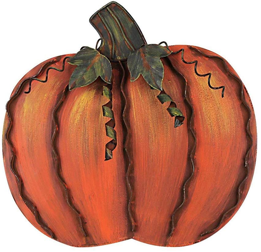 Metal Pumpkin 12""