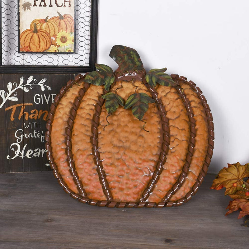 Metal Pumpkin 19""